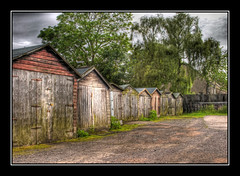 Shed Row (Jim Gove) Tags: nikon dundee hdr sheds d80 colorphotoaward bbcredbutton