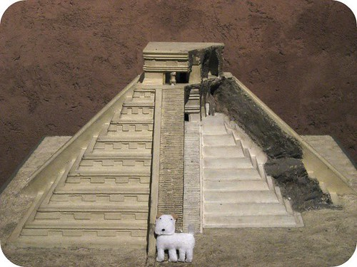 the dog visits Mexican ruins...