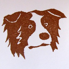 0876 BC stamp (done) (for LJ usericon) (WoofBC) Tags: dog signature letterboxing stamp bordercollie