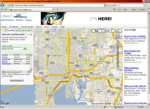 Bikely.com screenshot