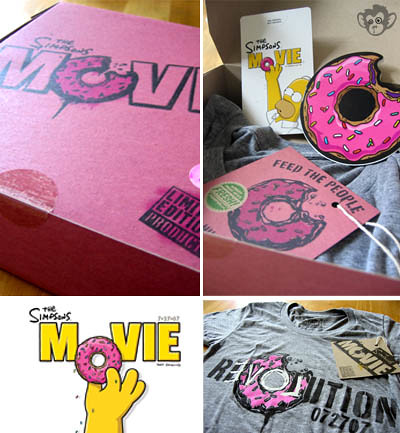 The Simpsons Movie Donut T-shirt
