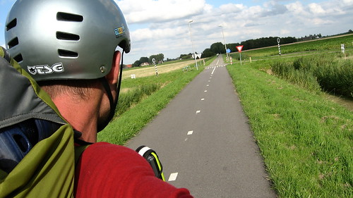 Perfect cycle path near Gervliet, The Netherlands