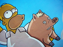 Yujuuuu (::: M @ X :::) Tags: movie poster pig top cartoon homer simpson homero afiche streetposter lossimpson puercoaraa puercopotter puercocartoon puercoarana puercoaraayhomero