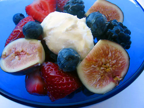 Fresh Fruits With Honey And Mascarpone