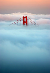 Last light on the Golden Gate Bridge (Rob Kroenert) Tags: sanfrancisco california bridge sunset fog clouds golden gate san francisco hawk marin hill goldengatebridge headlands superfantastique marinheadlands sfchronicle96hrs