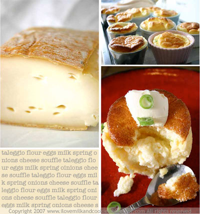 Taleggio and souffles