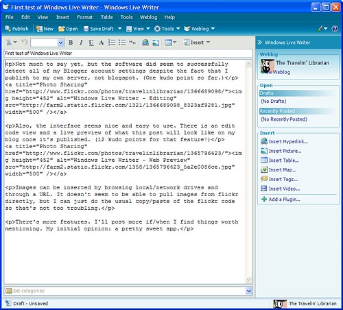 Windows Live Writer - HTML Code