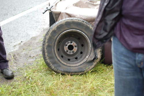 The tyre and the damage done...