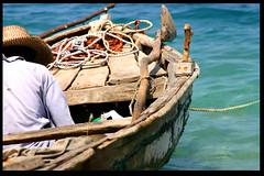 The old man and the sea (LindsayStark) Tags: ocean travel blue men beach water haiti war conflict humanrights humanitarian humanitarianaid emergencyrelief waraffected