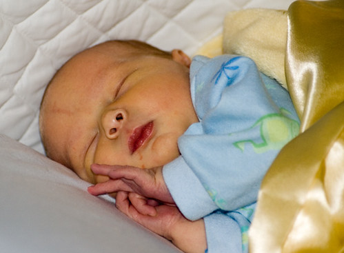 Nathaniel sleeping.