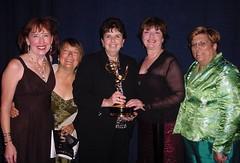 Prof. Margaret Carson and Vietnam Nurses at the Emmy Awards