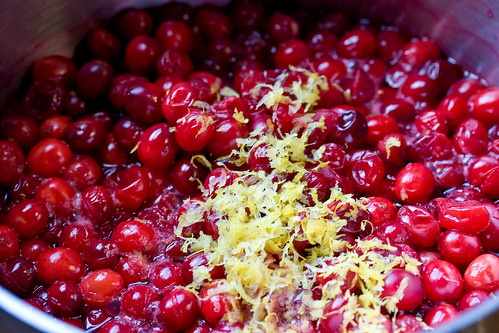 Lemon Zest over Softened Cranberries