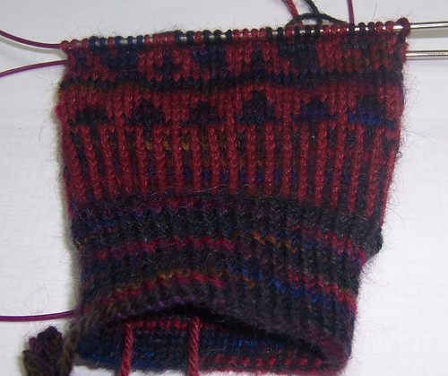 Squirrelly Mittens Progress 2