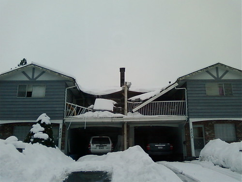 Deck roof collapse