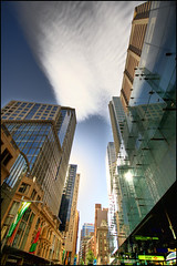 Sydney downtown (manlio_k) Tags: sky urban cloud reflection skyscraper sydney metropolitan hdr manlio castagna photomatix metropoli tonemapped tonemap infinestyle manliocastagna manliok