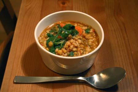 Barley, Lentil, and Swiss Chard Soup