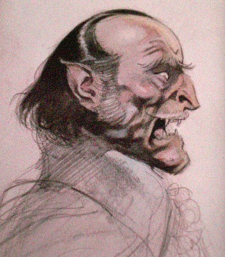 Frank Frazetta rough work Drácula