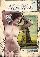New York - traded (PaperScraps) Tags: atc collage mixedmedia paperscraps vintagenude
