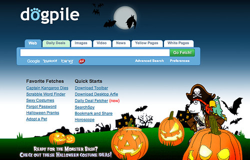 Dogpile Halloween dengan