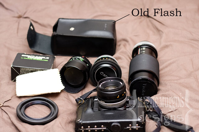 Old Canon Camera, Lenses and Flash