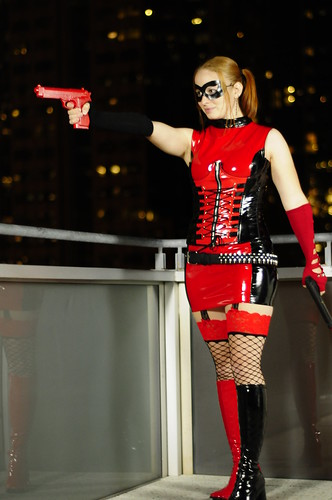 Amanda as a very sexy Harley Quinn.