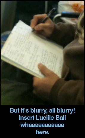 blurry-writing