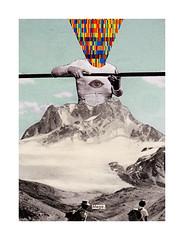 Mega. (pearpicker.) Tags: mountain eye illustration collages mega pearpicker