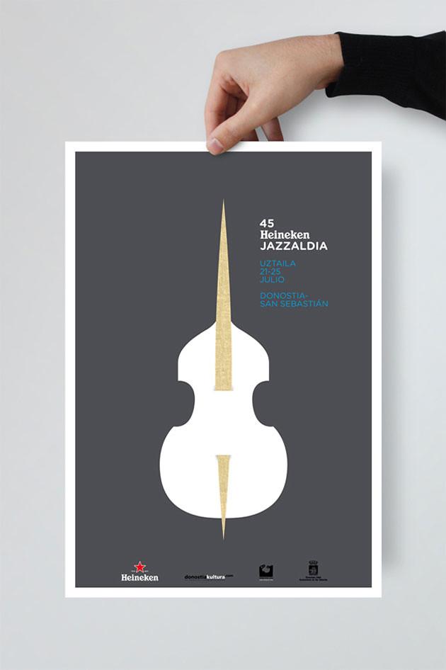 Poster para heineken Jazzaldia · La Caja de Tipos