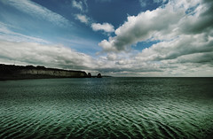 Freshwater Bay Photograph. Wide Open Space (s0ulsurfing) Tags: ocean uk blue light shadow sea england