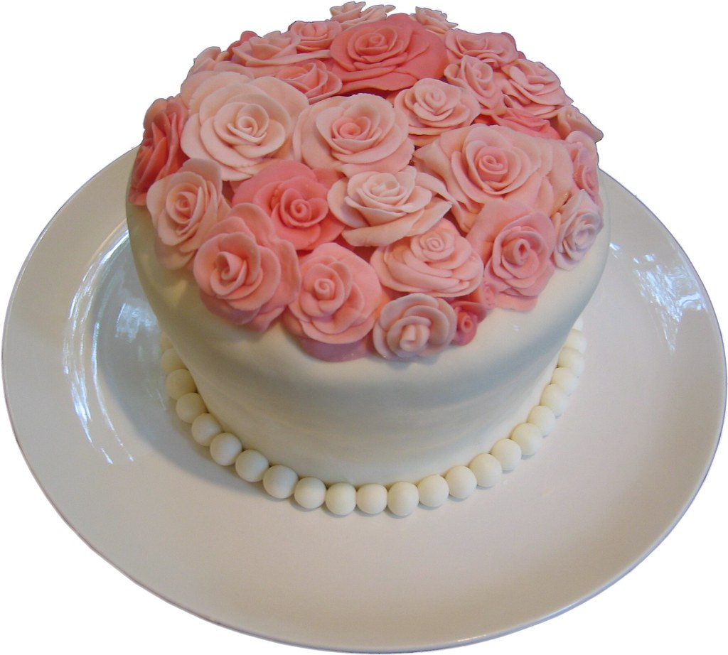 Rose Cake - Side.