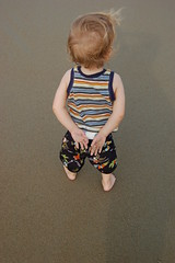 Wave watcher (AndrewCline) Tags: boy summer beach children toddler child newhampshire hamptonbeach