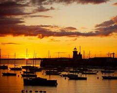 Howth Harbour Sunset - by féileacán