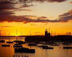 Howth Harbour Sunset - by féileacán