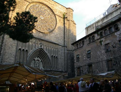 05.2007 Barcelona, market on Placa de Pi