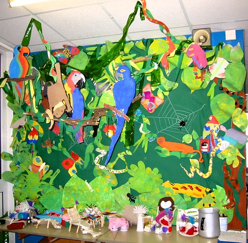 Rainforest Displays For Year 4 Classroom