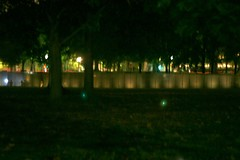 Vietnam memorial from afar
