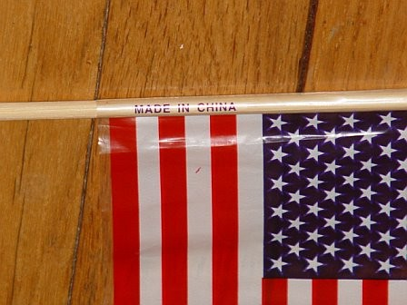 US Flag: Made in China
