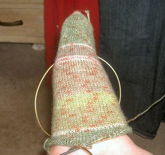 Step Sock WIP, On Foot