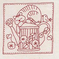 Cotton Country Quilt- cat
