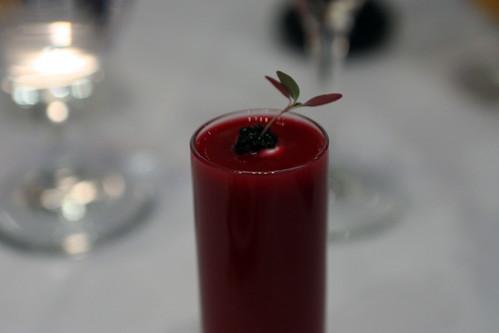 Classic cold borsht, caviar