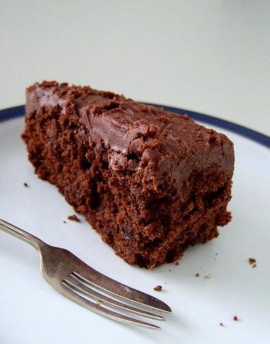 slice choc stout cake