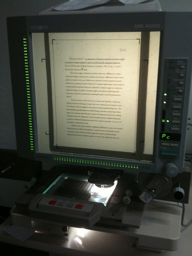 Microfiche or Microform reader by Wesley Fryer, on Flickr