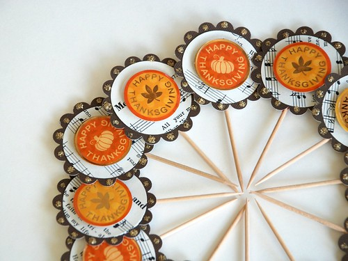 Happy Thanksgiving Cupcake Toppers