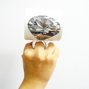 diamond ring mug