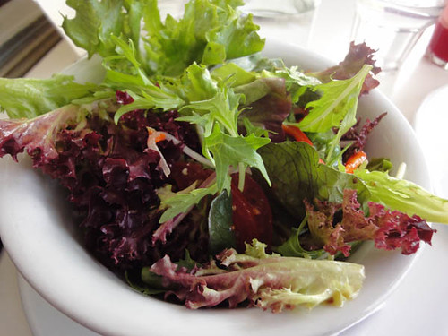 Sideways Deli Cafe: Mixed salad - bowl of mixed salad with homemade honey mustard dressing