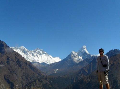 Everest! 3rd Major peak to the left.