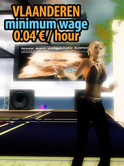 Vlaanderen Second Life: camping at SL minimum wage