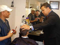 INSIDE LATINO STYLE MENS HAIR SALON, Manchester, NH