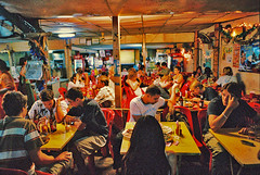 Mind our own business (۞ hinjuku) Tags: night thailand lowlight bangkok natura noflash handheld fujifilm hdr notripod iso1600 khaosan fav100 instantfave fakehdr 越夜越美麗