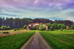 An Italian old Mansion (! .  Angela Lobefaro . !) Tags: trip travel vacation sky italy panorama topf25 topv111 clouds landscape countryside italia quality country gimp campagna piemonte ciel cielo nubes linux mansion chateau nuages schloss biella ubuntu piedmont castillo chateaux allrightsreserved burg italians 2007 kubuntu digikam cesvi flickrsbest xti 25faves biellese qtpfsgui holidaysvacanzeurlaub angiereal onlythebestare noqualitynocry brusnengo maxgreco angelalobefaro angelamlobefaro wwwcesviorg massimilianogreco pwpartlycloudy